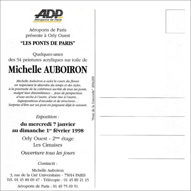Exposition-Les-Ponts-de-Paris-peintures-de-Michelle-Auboiron-Galerie-d-art-de-l-aerogare-Paris-Orly-ouest-verso