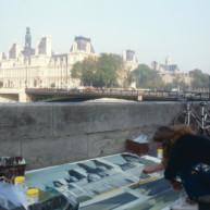 Michelle-Auboiron-peint-in-situ-les-Ponts-de-Paris-Photo-Anne-Sarter-29 thumbnail