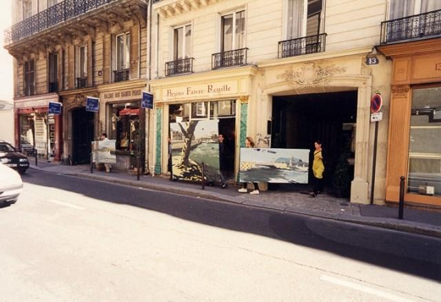 Vernissage-Exposition-Les-Ponts-de-Paris-peintures-de-Michelle-Auboiron-avec-la-galerie-Verneuil-Saints-Peres-Paris-quai-du-Louvre-14