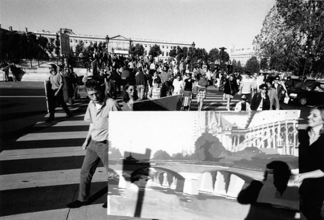 Vernissage-Exposition-Les-Ponts-de-Paris-peintures-de-Michelle-Auboiron-retour-en-fanfare-a-la-galerie-Verneuil-Saints-Peres-Paris-7