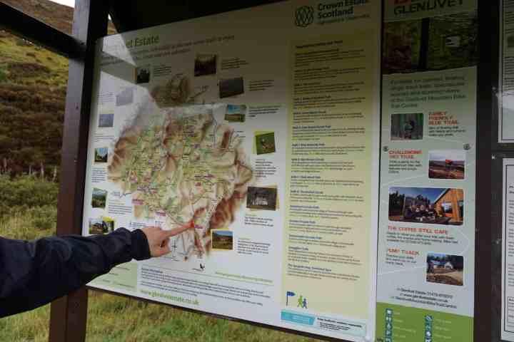 cairngorms parc Ecosse voyage carte domaine road trip tourisme en famille Glenlivet Estate