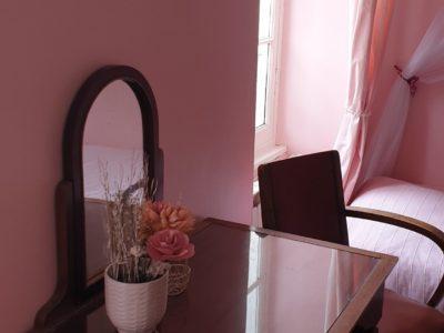 la chambre rose au bonheur du parc