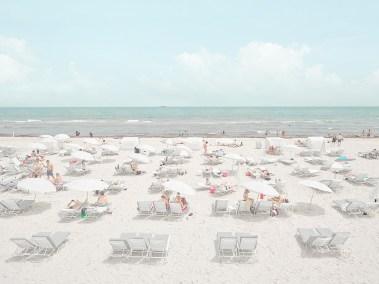 4. white umbrellas