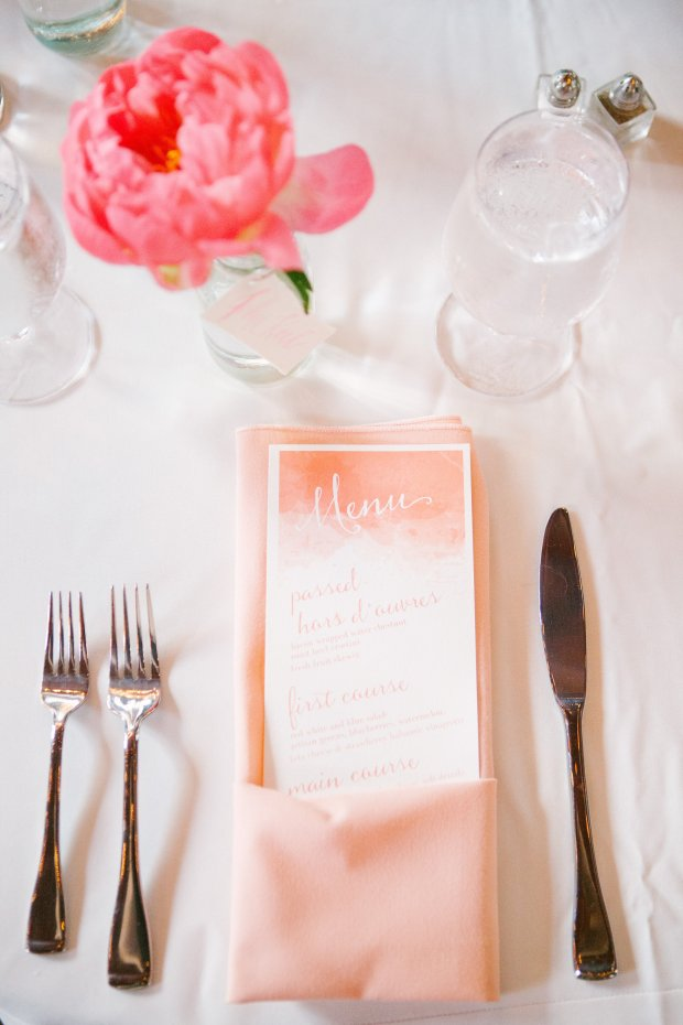 gorgeous coral wedding inspiration, watercolor wedding inspiration