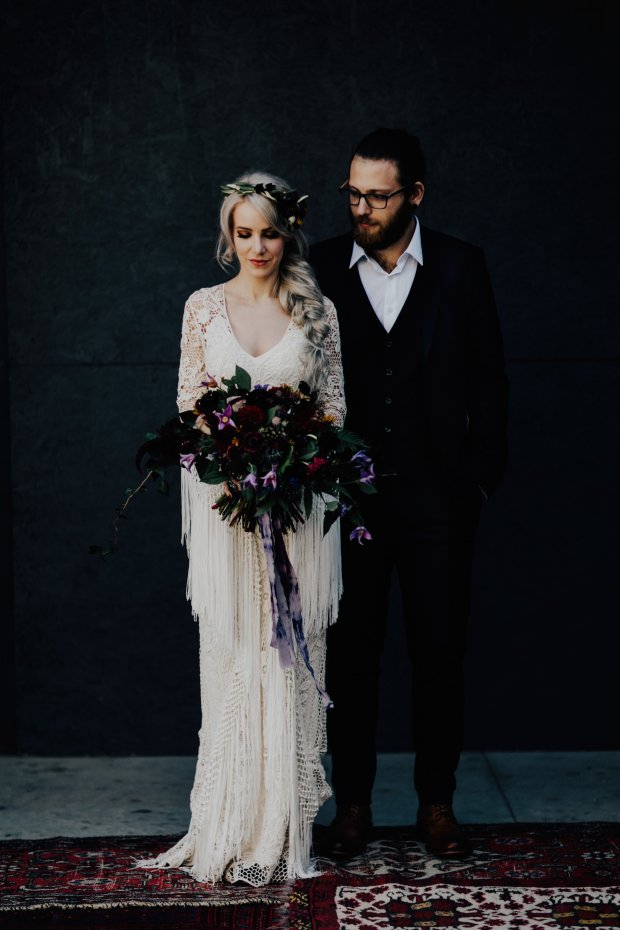 moody bohemian Strongwater wedding