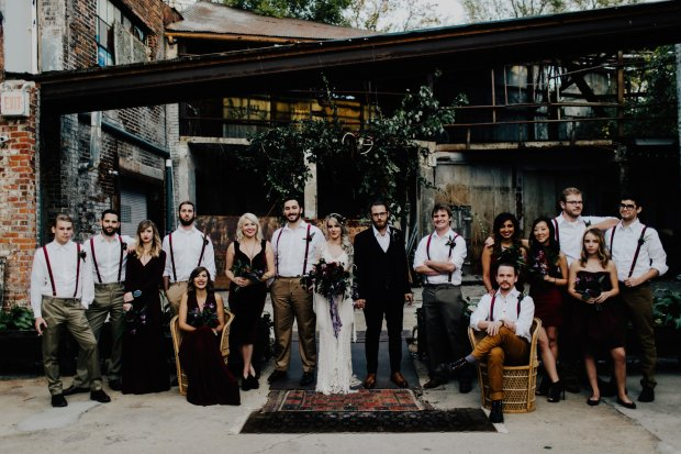 moody bohemian Strongwater wedding