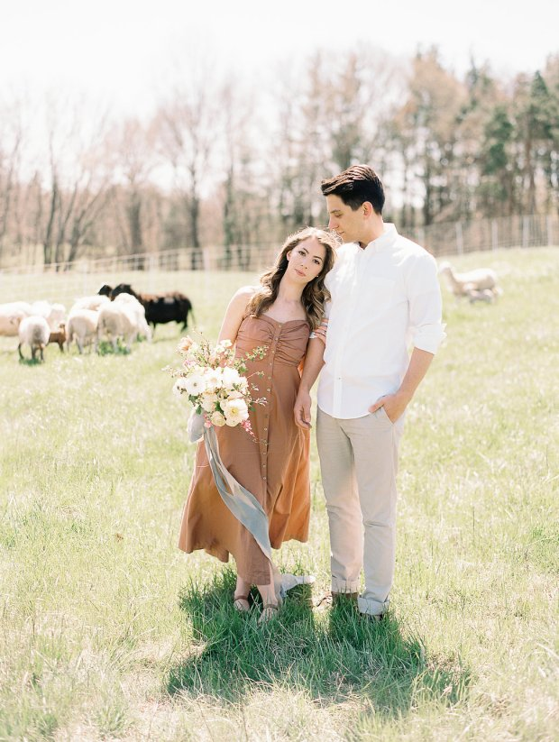 farm engagement session, springtime engagement session, Old Slate Farm