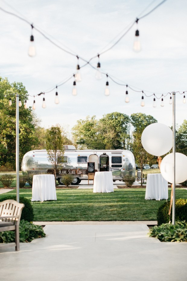 Coffee Airstream Oak Grove Wedding