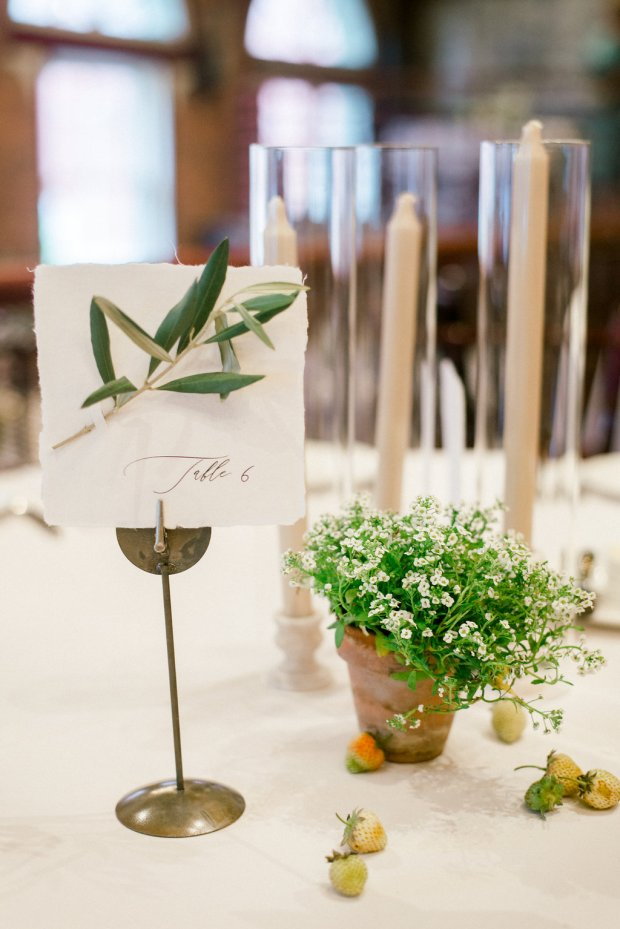 summer garden inspired table number, unique table numbers