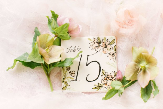 unique table numbers spring wedding