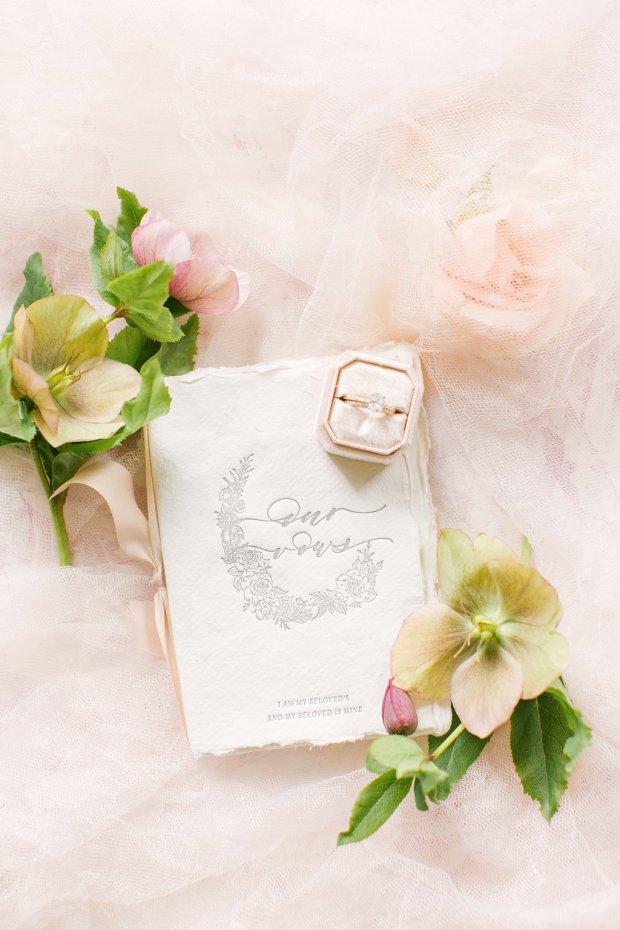 vow book, fine art wedding, wedding vow journal