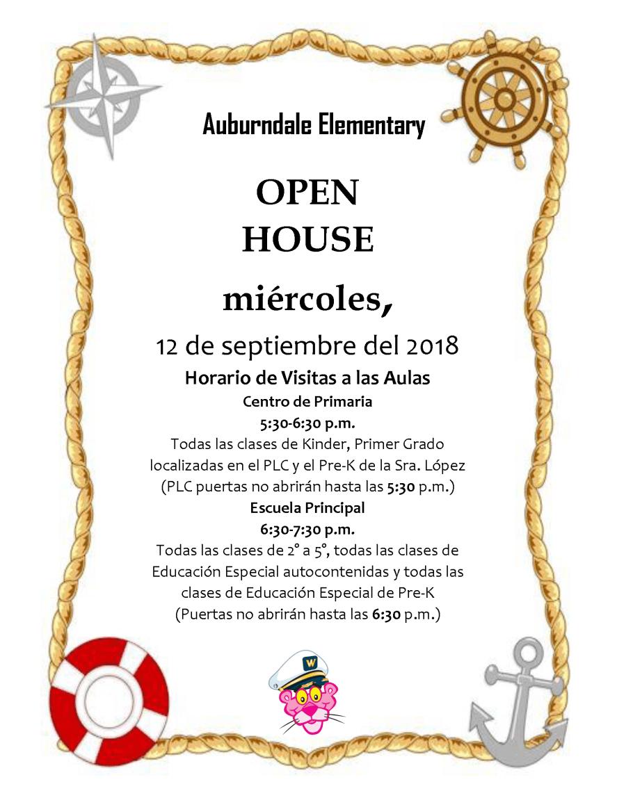 Open House Flyer 2018_2019 SPANISH