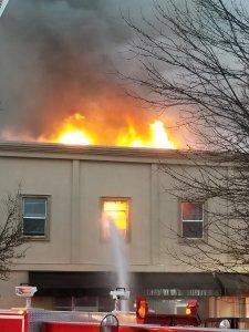heritage building, heritage building fire, downtown auburn, auburn fire, 3-alarm fire