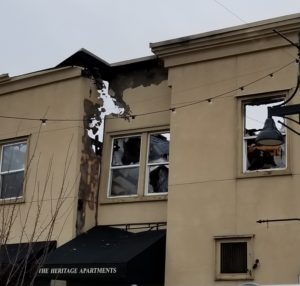 heritage building fire, heritage apartments, auburn fire, 3-alarm fire, nw red cross