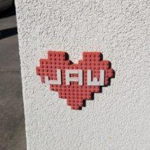 Auburn Hearts, Lego HEart, Brick Heart, Hearts around Auburn, Clay Heart, City of Auburn, Love your City
