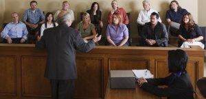 Jury, voir dire, jury box,