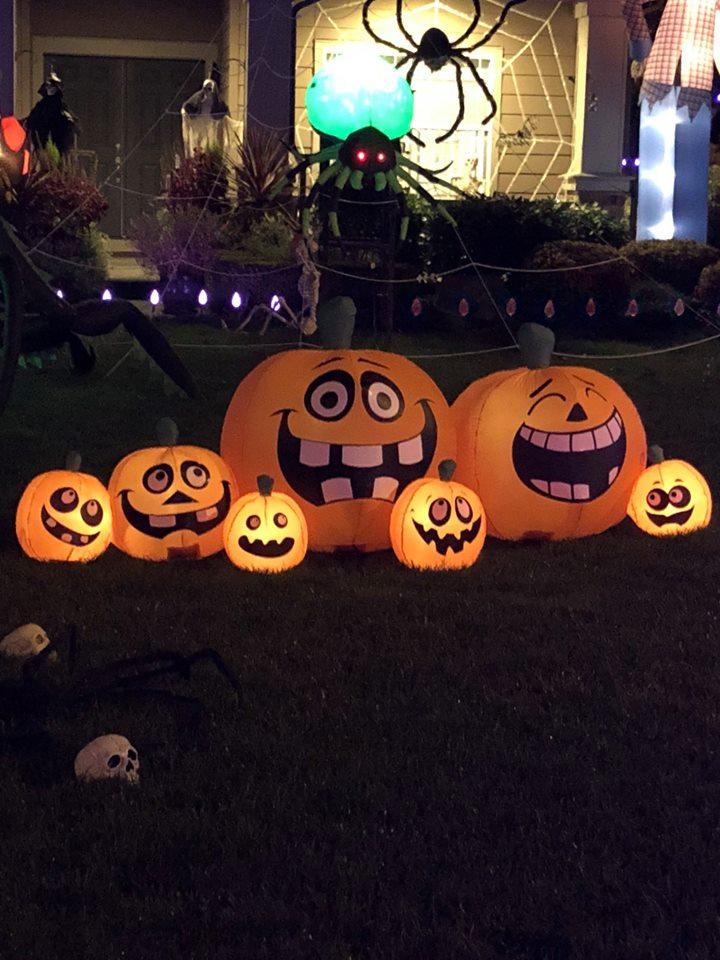 Annual Diego Moreno Food Drive, Randy Green, Halloween display