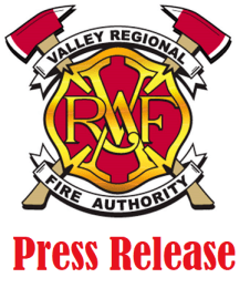 VRFA, press release, valley regional fire authority