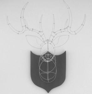 wire sculpture, wire deer head, jakobi, jakobi artworks