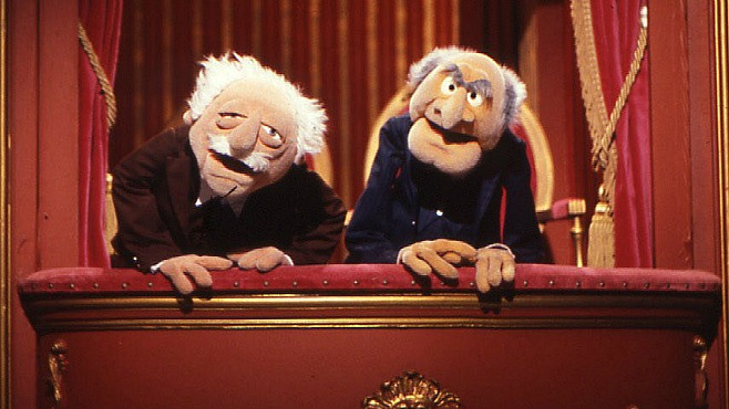 Walter and stalter, muppet heckler, comedy show heckler, theater heckler, heckling is bad