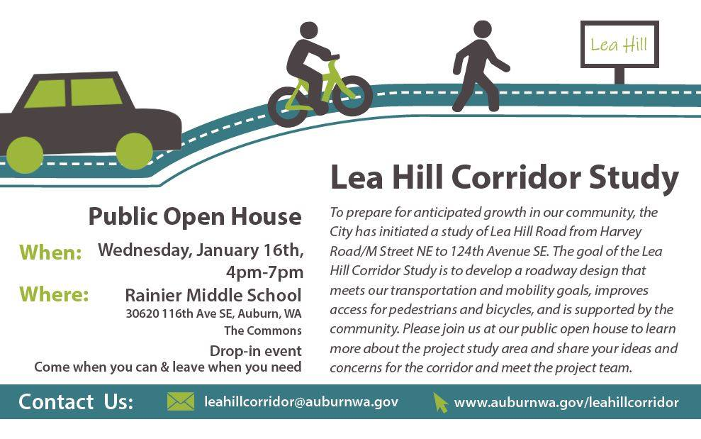 lea hill, open house, public meeting