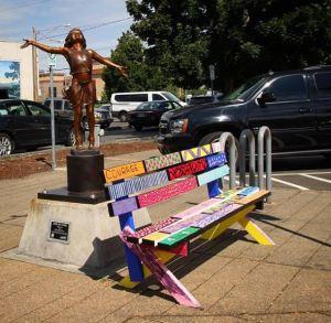 unique bench, art sculpture, auburn wa, city of auburn