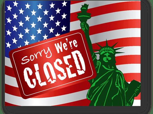 government shutdown, sorry we're closed, shut down, government shut down 2019