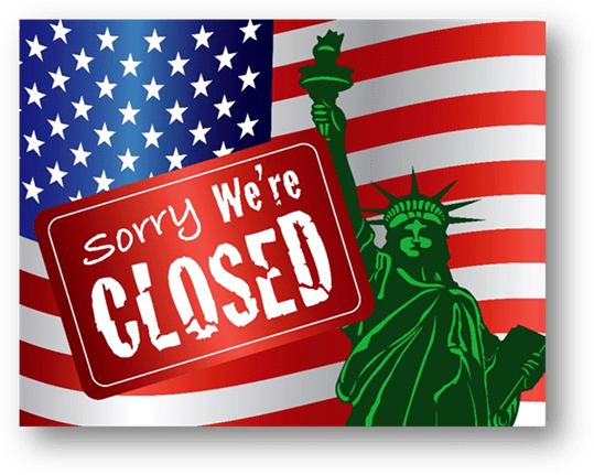 government shutdown, sorry we're closed, shut down, government shut down 2019