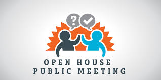 public meeting, town hall, public open house