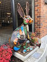 hare, outdoor sculptures, city of auburn