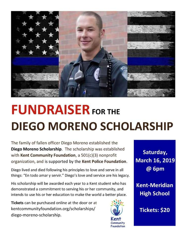 Diego Moreno, Diego Moreno scholarship, kent police Department