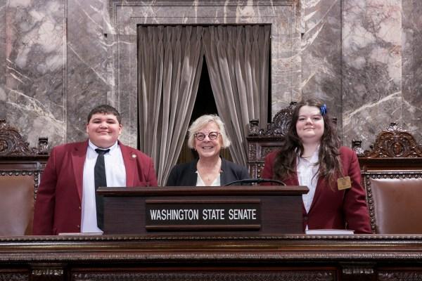 claire wilson, senator claire wilson, senate page