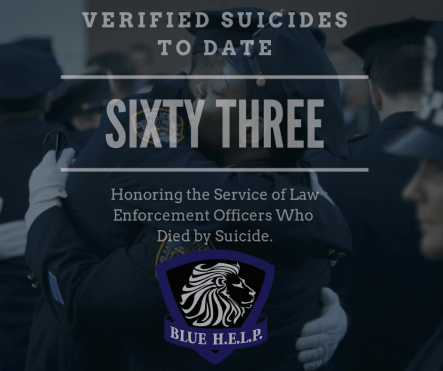 blue help, suicide prevention, law enforcement suicide,