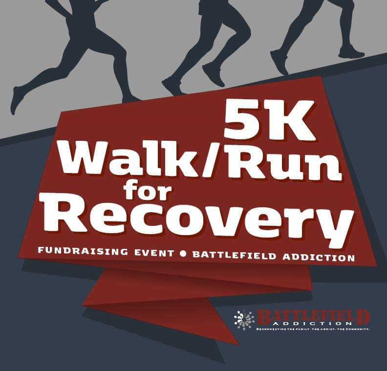 battlefield addiction, battlefield coffeehouse, battlefield addition 5k, 5k walk/run for recover, 5k for recovery,run/walk for recovery