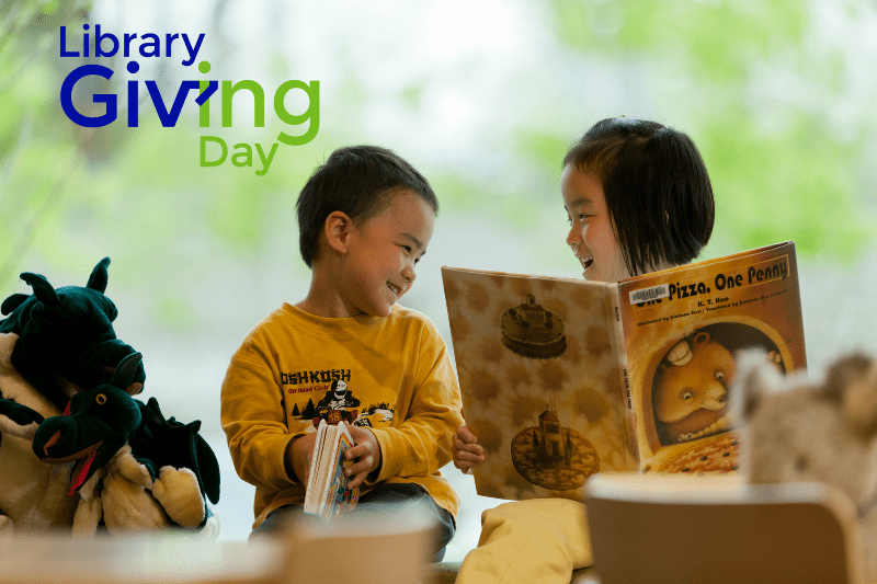 library giving day, king county library system foundation, king county library, auburn library, library giving day