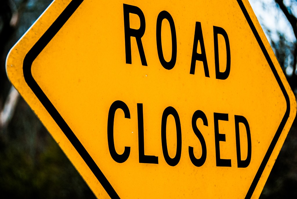 road closed, auburn, traffic alert