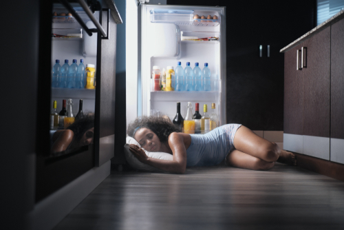 heat exhaustion, heat stroke, record breaking heat washington, how to stay cool in the summer, cool your house with the fridge, sleep in the refrigerator, fridge nap, sleep on the floor, stay cool in summer, creative ways to stay cool, summer safety tips, heat safety