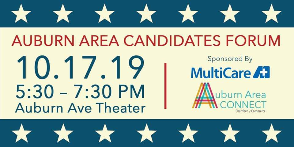 candidate forum, auburn area chamber of commerce