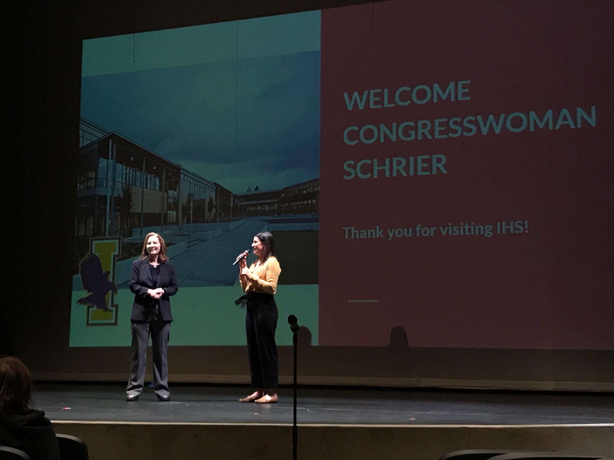 congresswoman kim schrier, kim schrier issaquah high school, schrier issaquah high school, kim schrier 8th district, schrier state of the union guest,