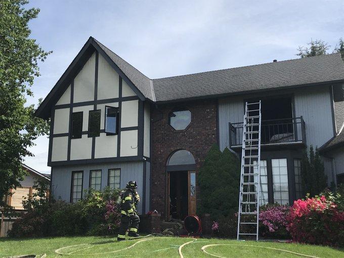auburn house fire, fire in auburn wa, residential fire auburn wa, house fire started by oily towels, thursday house fire, may house fire