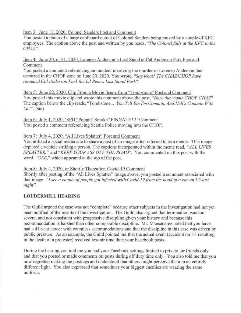 Mike Brown Loudermill Results Letter