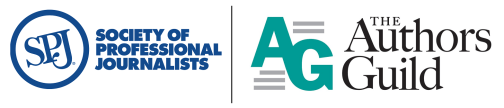 SPJ Logo and The Authors Guild logo
