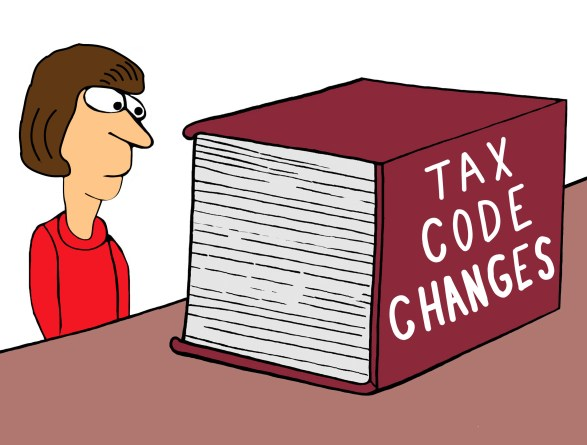 Accountant is intimidated by tax code book.