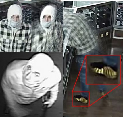 surveillance footage from inside Coastal Farm and Ranch of an individual stealing from the store.
