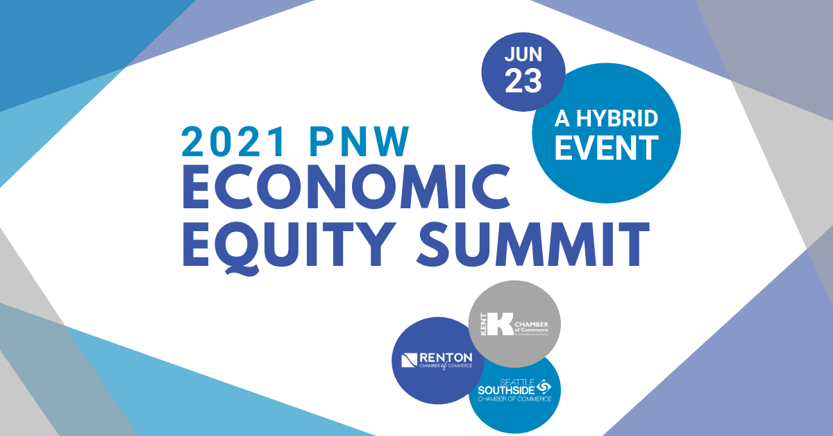 A graphic for the 2021 pnw economic equity cummit