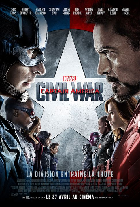 Captain America Civil War affiche