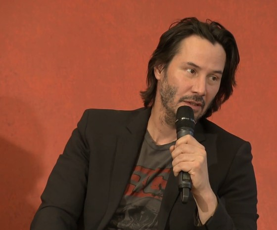 John Wick 2 press conference Keanu Reeves photo 12