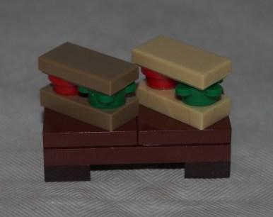 Set LEGO 40236 Pique-nique romantique de la Saint-Valentin-sandwich 1