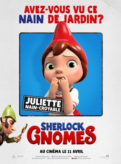 Sherlock Gnomes affiche Juliette