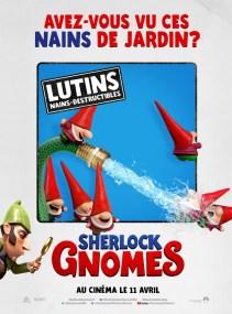 Sherlock Gnomes affiche lutins